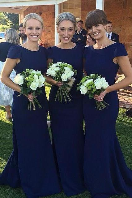 Long Sleeve Bridesmaid Dresses, Mermaid Long Bridesmaid Dress, Elegant Lace Bridesmaid Dress, Wedding Guest Dress, long bridesmaid dress, dress for wedding, wedding party dress, 20508Royal blue bridesmaid dress, simple short sleeve bridesmaid dress, cheap mermaid bridesmaid dreess, elegant simple bridesmaid dress, long bridesmaid dress,
