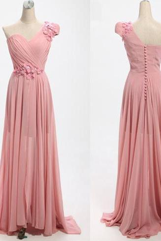 Hot Sale Bridesmaid Dresses,Long Bridesmaid Dresses,Flower Bridesmaid Dresses,A-Line Bridesmaid Dresses,Chiffon Bridesmaid Dresses,Cheap Bridesmaid Dresses ,One-Shoulder Bridesmaid DressesCustom Made Evening Dress,Vestido de Noiva, Wedding Guest Dress