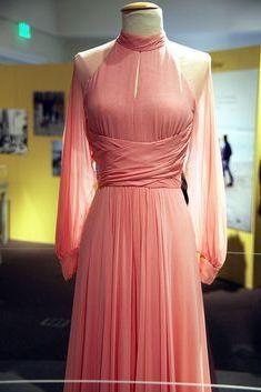 2017 Custom Made Charming Pink Chiffon Prom Dresses,Long Sleeves Evening Dress,See Through Prom Dresses,high Neck Prom Dresses,Formal Gowns Plus Size, Cocktail Dresses, formal dresses,Wedding guests dresses