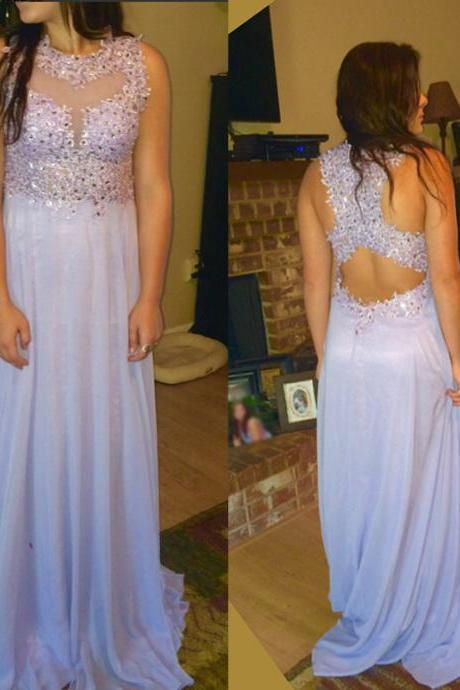 2017 Custom Made Charming Prom Dresses,O-Neck Prom Dress,Appliques Prom Dress,Chiffon Prom Dress,A-Line Evening Dresses, Appliques Prom Dresses,Long Beading Prom Dresses, Cocktail Dresses, formal dresses,Wedding guests dresses