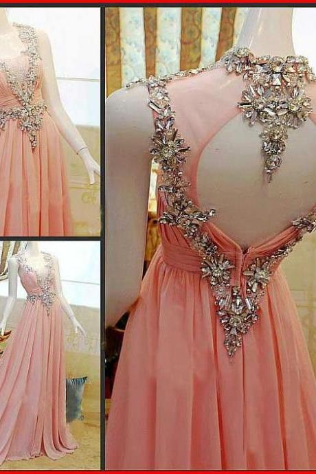 2017 Luxury beads Custom Made Charming Prom Dresses,Chiffon Prom Dress,A-Line Prom Dress,Strapless Prom Dress,Crystal Prom Dresses, Charming Prom Dresses,A-Line Evening Dresses, Prom Dresses,Long Beading Prom Dresses, Cocktail Dresses, formal dresses,Wedding guests dresses