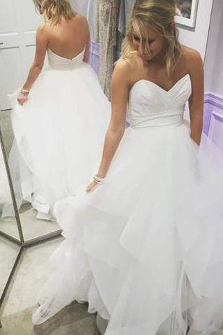 2017 Custom made White sweetheart prom dresses,sexy spaghetti straps evening dress, organza formal dresses,formal dresses,Long Prom Dresses,Evening Dresses, Prom Dresses,Long Beading Prom Dresses, Cocktail Dresses, formal dresses,Wedding guests dresses