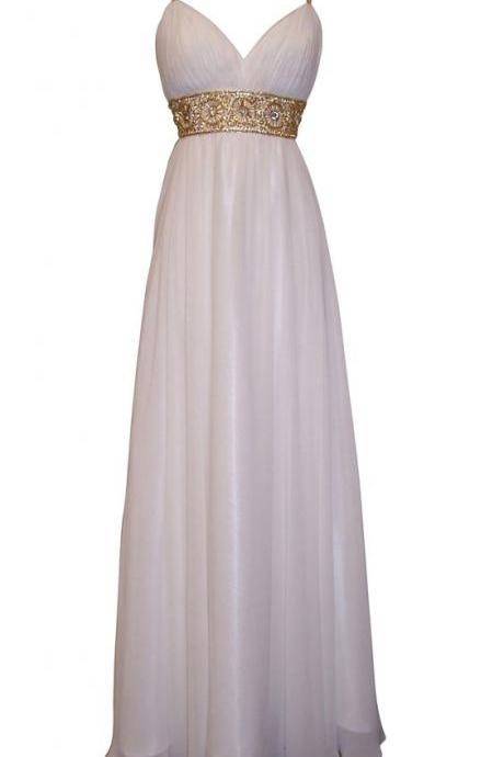 Greek Goddess Chiffon Prom Dress, Starburst Beaded Full Length Gown, Prom Dress Junior Plus Size,Beading A-line Party Dress,Long Coral Party Dresses,Beading Sleeveless Evening Dress,Prom Dress,cheap Sexy Backless Prom Dresses,Beading Evening Dress, Prom Dress, formal dresses,Wedding guests dresses