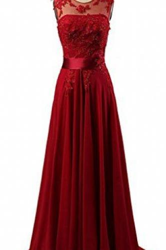 Custom Charming Red lace Chiffon Prom Dress,Beading Sleeveless Evening Dress,cheap Sexy Backless Prom Dresses,Beading Evening Dress, Prom Dress, formal dresses,Wedding guests dresses
