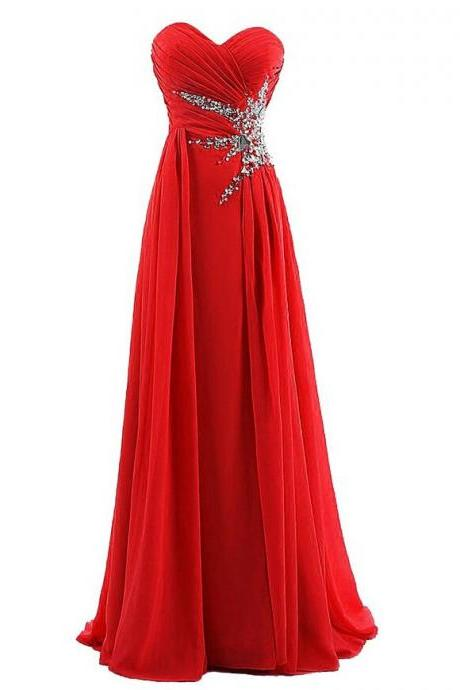 Prom dress,Sexy Red And Royal Blue chiffon prom Dress For Prom,cheap long sexy prom dresses .