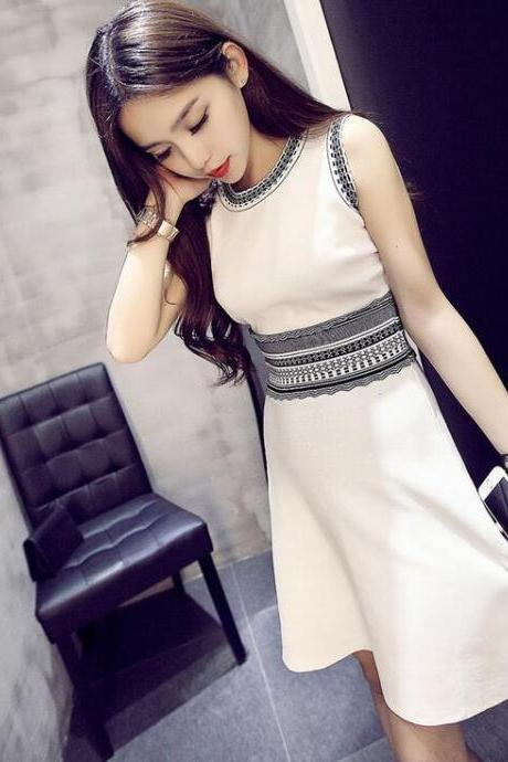 White knitting dress,casual Dress,Sexy party dress,Elegant short Prom Dresses, Party dresses