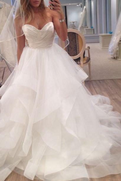 Wedding Dress,Custom Made White Wedding Dress,Sexy Sweetheart Bridal Dress,Strapless Wedding Gown,Sleeveless Wedding Dresses, High Quality Formal Dress, High Quality Prom Dresses,High Quality Graduation Dress,Wedding Guest Dress