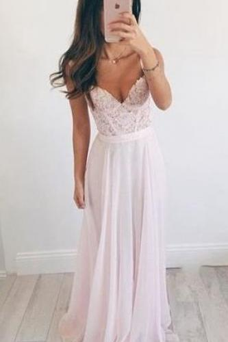 Prom Dress,Chiffon A-Line Prom Dress,Long Evening Dress,Lace Prom Dress ,Charming Prom Dress, Formal Dresses, High Quality Prom Dresses,High Quality Graduation Dress,Wedding Guest Dress