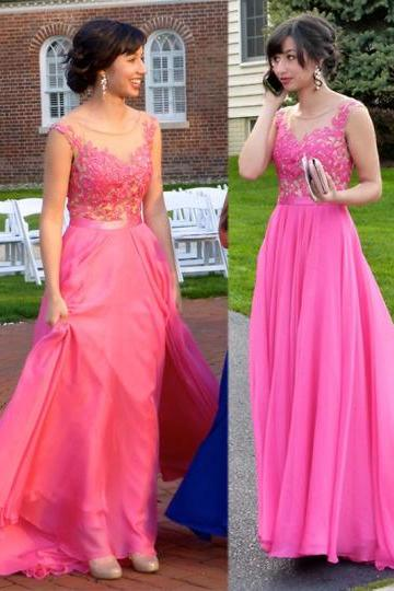 Prom dress,Charming Prom Dress,Chiffon Prom Dress,A-Line Prom Dress,Appliques Prom Dress,O-Neck Prom Dress, Formal Women Dress,prom dress, Formal Dresses, High Quality Prom Dresses,High Quality Graduation Dress,Wedding Guest Dress