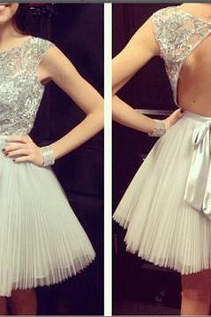 Party Dress,Sexy Open back Homecoming Dress, Short Sleeves Prom Dress,Shny Beading Party Dresses, Bowknot prom Dress, Mini Cocktail Dresses,Custom prom dresses, Formal Dresses, High Quality Party Dresses,High Quality Graduation Dress,Wedding Guest Dress