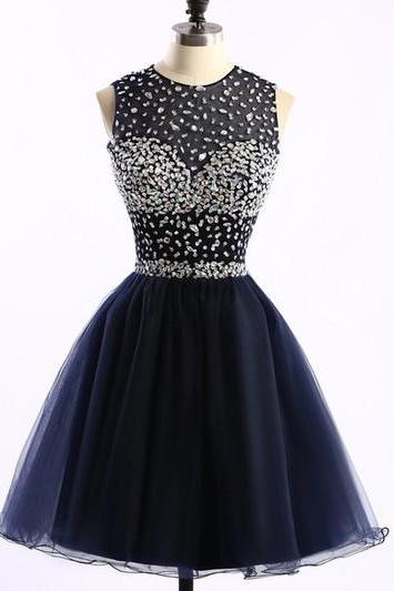 Homecoming Dress,Sexy Customized Navy blue Homecoming dresses, Short Prom dresses, Cute Party dresses, sexy Cocktail dresses,Custom prom dresses, Formal Dresses, High Quality Party Dresses,High Quality Graduation Dress,Wedding Guest Dress