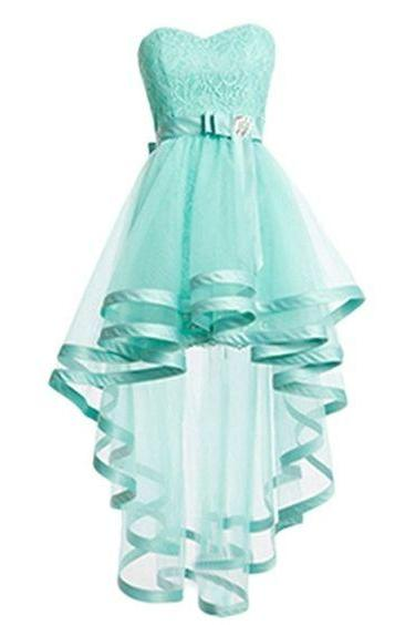 Graduation Dress,Sexy Luxury Mint Green Homecoming Dress, High-Low Dress,Lace Dress And Tulle Prom Dresses,Sweetheart Homecoming Dress,Sexy Mini Cocktail Dress,Custom prom dresses, Formal Dresses, High Quality Party Dresses,High Quality Graduation Dress,Wedding Guest Dress