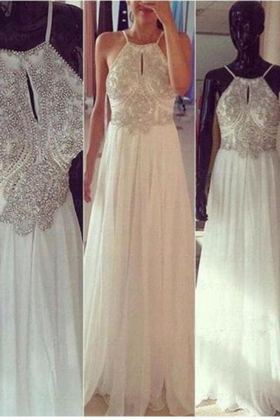 long prom dress, white prom dress, party prom dress, charming prom dress, backless prom dress, cheap prom dress, long evening dress