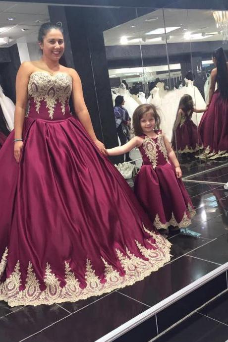Wedding Dresses, New Arrival Prom Dress,Modest Prom Dress,burgundy wedding dress,wine red ball gowns,gold lace bridal dress,elegant wedding dress