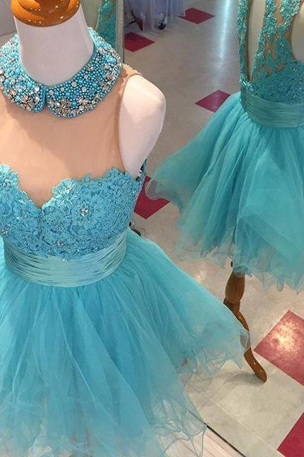 Homecoming Dress, Homecoming Dress,halter prom dresses,short prom gowns,homecoming dresses 2017,open back dresses