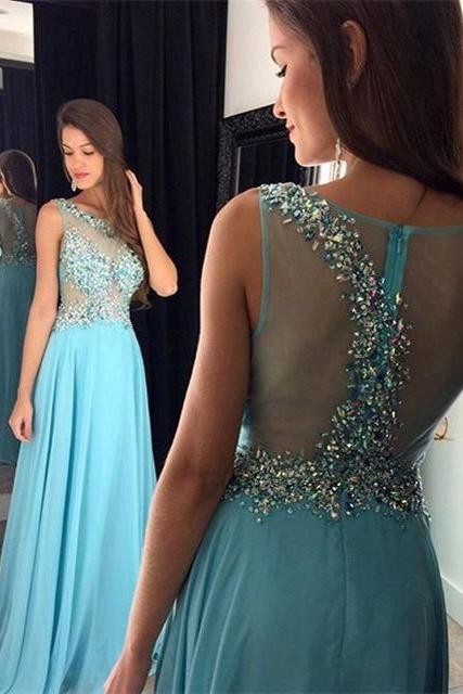 Formal Dress, Blue Prom Dresses,A-Line Prom Dress,Sparkle Prom Dress,Chiffon Prom Dress,Simple Evening Gowns,Sparkly Party Dress,Elegant Prom Dresses,Formal Gowns For Teens,Formal Dress