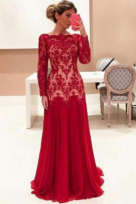 Red Formal Dress,Red Prom Dresses,Prom Dress,Red Prom Gown,Lace Prom Gowns,Elegant Evening Dress,Modest Evening Gowns,Simple Party Gowns,Lace Prom Dress,Formal Dress