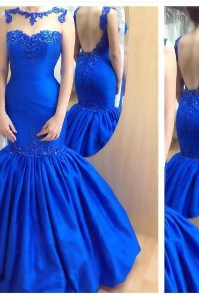 Prom Dress, Mermaid Prom Gown,Royal Blue Evening Gowns,Party Dresses,Mermaid Evening Gowns,Sexy Formal Dress For Teens, Formal Occasion Dresses,Formal Dress