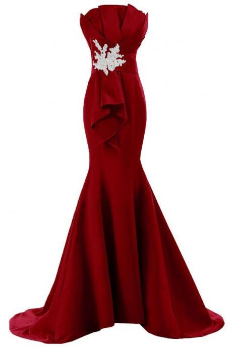 Prom Dress,Sexy Burgundy Prom Dresses,Prom Dress,Burgundy Prom Gown,Burgundy Prom Gowns,Elegant Evening Dress,Modest Evening Gowns,Simple Party Gowns,Mermaid Prom Dress,Wedding Guest Prom Gowns, Formal Occasion Dresses,Formal Dress