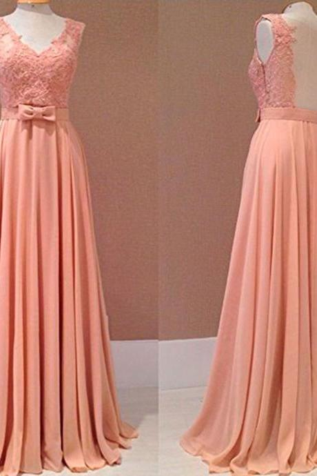 Sexy New Style Prom Dress Blush Pink Chiffon Evening Gowns,Wedding Guest Prom Gowns, Formal Occasion Dresses,Formal Dress