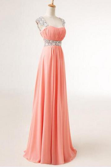 Sexy Prom Dress, Pretty Cap Sweetheart Sequins Chiffon Prom Dresses , Formal Gown, Evening Dresses, Party Dresses, Prom Dresses , Party Dress,Wedding Guest Prom Gowns, Formal Occasion Dresses,Formal Dress