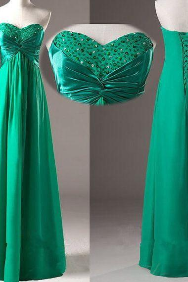 Sexy Prom Dress, Pretty Green Simple and Elegant Prom Gown with Beadings, Simple Prom Dresses , Bridesmaid Dresses, Formal Gown, Party Dress,Wedding Guest Prom Gowns, Formal Occasion Dresses,Formal Dress