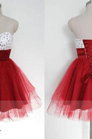 Graduation Dress,Party Dresses, short prom dress, red prom dress, sweet heart prom dress, knee-length prom dress, lovely prom dress, lace up prom dress, occasion dress, homecoming dressWedding Guest Prom Gowns, Formal Occasion Dresses,Formal Dress