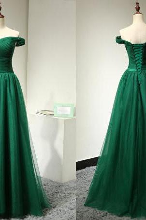 Prom Dress, Sexy Green Prom Dress Off The Shoulder Straps,Elegant Evening Dress,Party Dress,Wedding Guest Prom Gowns, Formal Occasion Dresses,Formal Dress
