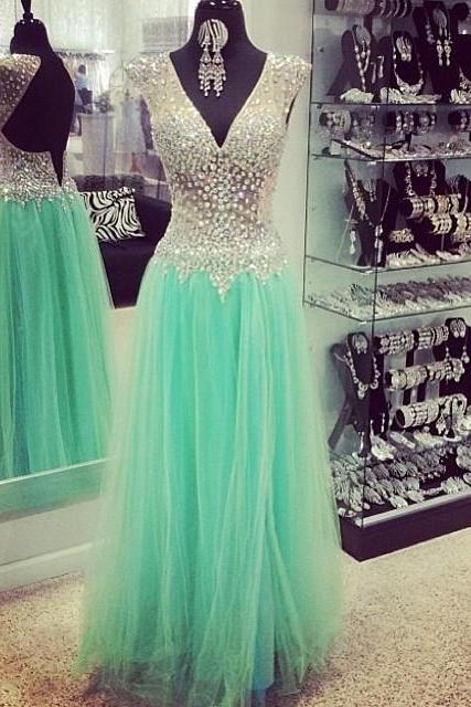 Prom dress, Backless Sleeveless Prom Dress,Long Green Prom Dresses,Wedding Guest Prom Gowns, Formal Occasion Dresses,Formal Dress