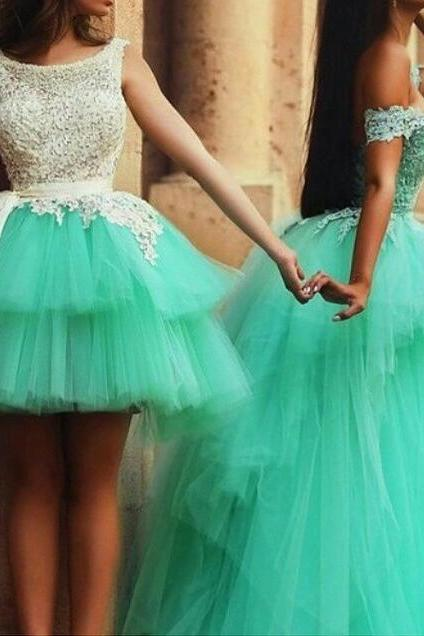 Tulle Homecoming Dresses,Sweet Evening Dresses,Applique Cocktail Dresses,Lavered Ball Gown Popular Homecoming Dresses,Wedding Guest Prom Gowns, Formal Occasion Dresses,Formal Dress