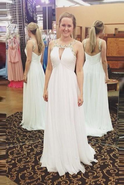 Lovely A-Line Prom Dress,White Prom Dresses A-Line Prom Dress,Cap Sleeve Prom Dresses,Evening Dress,Wedding Guest Prom Gowns, Formal Occasion Dresses,Formal Dress