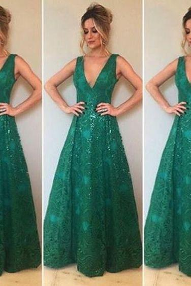 Charming Prom Dress,Lace Prom Dress,V-Neck Prom Dress,A-Line Evening Dress,Wedding Guest Prom Gowns, Formal Occasion Dresses,Formal Dress