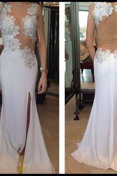 Sexy Charming Prom Dress,Chiffon Prom Dress,Appliques Prom Dress,Backless Evening Dress, High Neck Prom Dress,Wedding Guest Prom Gowns, Formal Occasion Dresses,Formal Dress