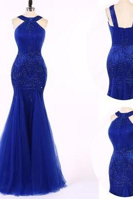 Royal Blue Long Prom Dress,Mermaid Long Prom Dress, Evening Dress,Wedding Guest Prom Gowns, Formal Occasion Dresses,Formal Dress