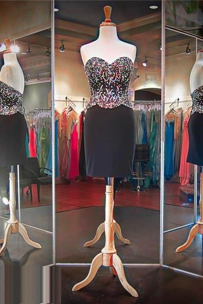 Homecoming Dress,Elegant Black Prom Dress,Short Prom Dress,Spandex Prom Dress,Cheap Prom Dress,Prom Dress , Jersery Homecoming Dress, 8th Grade Prom Dress,Holiday Dress,Black Evening Dress, Short Evening Dress,Formal Dress, Homecoming Dresses, Graduation Dress, Cocktail Dress, Party Dress,Wedding Guest Prom Gowns, Formal Occasion Dresses,Formal Dress