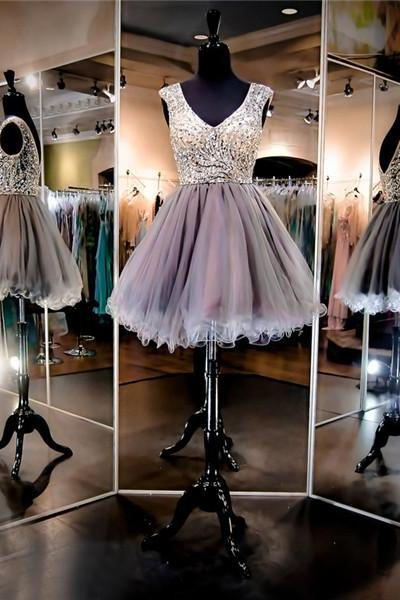 Silver Homecoming Dresses, Silver Prom Dresses, Homecoming Dresses,Beaded Homecoming Dresses, Mini Homecoming Dress, Sexy Homecoming Dress, Cheap Homecoming Dresses, Party Dress, Short Evening Dress, Cocktail Dress, Graduation Dress, Ball Gown,Wedding Guest Prom Gowns, Formal Occasion Dresses,Formal Dress