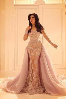 Wedding Dress, New Cheap Long Sleeved Lace Wedding Dresses, with Organza Over Skirt Mermaid Bridal Dresses, Illusion Slit Skirt and Sheer Full Sleeves,Graduation Dresses,Wedding Guest Prom Gowns, Formal Occasion Dresses,Formal Dress
