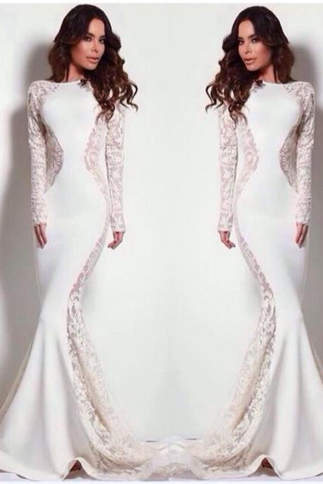 Wedding Dress, Hot Sale Michael Costello White Mermaid Lace Accents Wedding Dresses Sleeveless Formal Evening Bridal Gowns Vestidos,Graduation Dresses,Wedding Guest Prom Gowns, Formal Occasion Dresses,Formal Dress