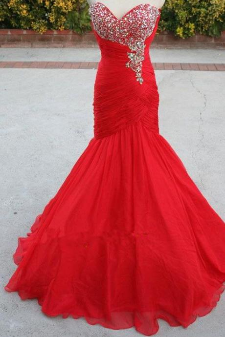 Prom Dress, Luxury Beading Long Prom Dresses, Red Prom Dresses, Mermaid Prom Dresses,Long Prom Dress , Prom Dresses,Mermaid Evening Dress,Red Evening Gowns, Red Dresses,Prom Dress Beaded,Pageant Dress,Sweetheart Prom Dress,Court Train,High Quality Graduation Dresses,Wedding Guest Prom Gowns, Formal Occasion Dresses,Formal Dress