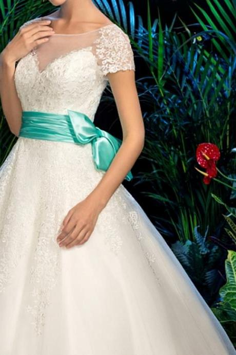 Wedding Dress,Sexy Wedding Dress,Wedding Dresses, with Sleeves,Scoop Neckline Bridal Dresses,Princess Wedding Dresses, A-line Wedding Dresses,Modest Wedding Dress,Fashion Wedding Dress with Bow,High Quality Graduation Dresses,Wedding Guest Prom Gowns, Formal Occasion Dresses,Formal Dress
