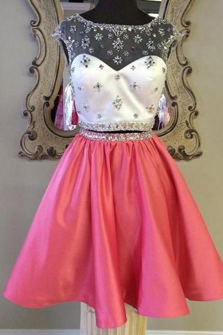 Sexy Homecoming Dress,Charming Homecoming Dress,Beaded Homecoming Dresses, Two piece Homecoming Dress,Pretty Homecoming Dress,Modest Homecoming Dress,Custom Homecoming Dress,High Quality Graduation Dresses,Wedding Guest Prom Gowns, Formal Occasion Dresses,Formal Dress