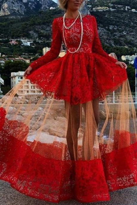 Prom Dress,Sexy Elegant Evening Dresses,Sexy Prom Dresses,Red Prom Dress,Long Sleeve Prom Dress,Lace Prom Dress,Fashion Prom Dress,Special Occasion Dress,New Arrival Prom Dress,Sexy Party Dress,High Quality Graduation Dresses,Wedding Guest Prom Gowns, Formal Occasion Dresses,Formal Dress