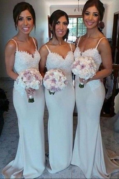 Bridesmaid Dress,Sexy Elegant Bridesmaid Dress,Long Bridesmaid Dresses,Spaghetti Straps Bridesmaid Dress,Sexy Bridesmaid Dress,Lace Bridesmaid Dress,Sheath Bridesmaid Dress,Wedding Party Dress,High Quality Graduation Dresses,Wedding Guest Prom Gowns, Formal Occasion Dresses,Formal Dress