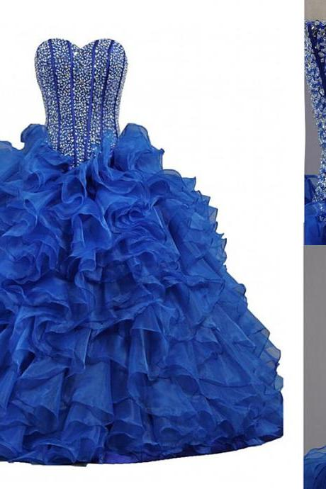 Prom Dress,Sexy Elegant New Arrival Stunning Ball Gown,Beaded Quinceanera Dress,Sweetheart Quinceanera Dress,Real Made Organza Quinceanera Dresses,Formal Prom Gowns,High Quality Graduation Dresses,Wedding Guest Prom Gowns, Formal Occasion Dresses,Formal Dress