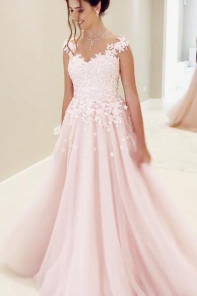 Wedding Dress,Sexy Elegant Wedding Dresses, Cap Sleeves Wedding Dresses,Lace Appliques Wedding Dress,Sheer Neck Prom Gowns,Long Bridal Dresses,High Quality Bridal Dress,Wedding Guest Prom Gowns, Formal Occasion Dresses,Formal Dress