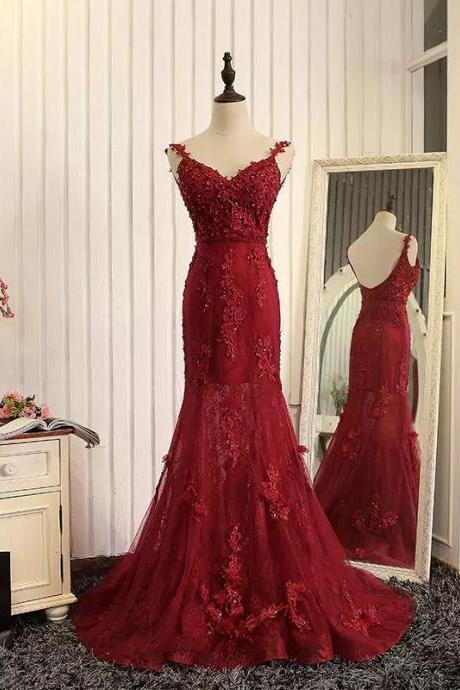 Prom Dress,Sexy Elegant Prom Dresses, wine red evening dress,mermaid evening gowns,burgundy prom dress,lace prom dress,High Quality Graduation Dresses,Wedding Guest Prom Gowns, Formal Occasion Dresses,Formal Dress,High Quality Graduation Dresses,Wedding Guest Prom Gowns, Formal Occasion Dresses,Formal Dress