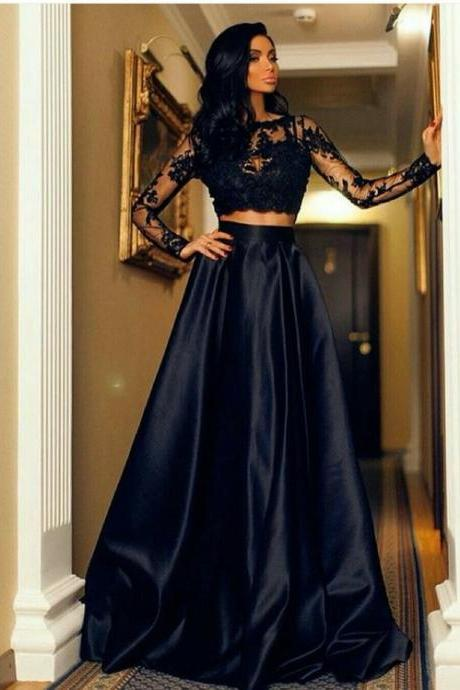 Long sleeve fashion formal dress