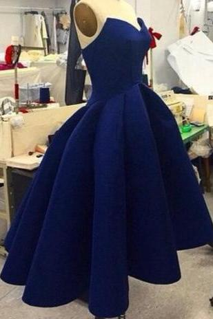 Classic High Low Prom Dress, Prom Dress, Royal Blue Prom Dresses