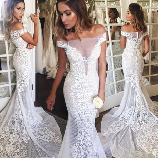Zipper Lace Lace Wedding Dress,Court Train Sweetheart Wedding Dresses Princess Short Sleeves Homecoming Dress Outlet Dresses