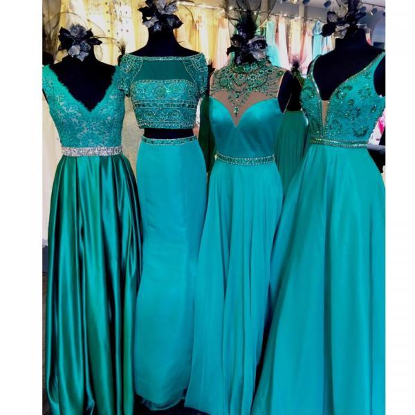 Prom Dresses,Prom Dress,Long Prom Dresses,Lace Prom Dresses,Prom Dresses Green,Lace Formal Gowns,A-line Evening Dresses,Lace Pageant Dresses